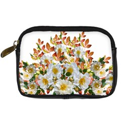Flowers Roses Leaves Autumn Digital Camera Leather Case