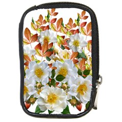 Flowers Roses Leaves Autumn Compact Camera Leather Case