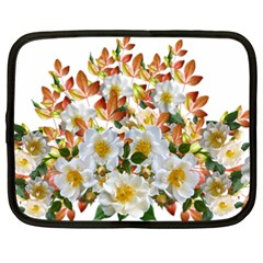 Flowers Roses Leaves Autumn Netbook Case (xxl)
