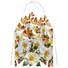 Flowers Roses Leaves Autumn Full Print Apron