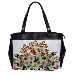 Flowers Roses Leaves Autumn Oversize Office Handbag