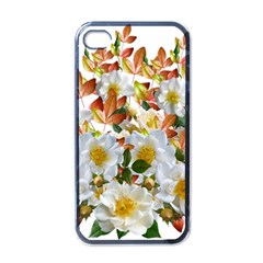 Flowers Roses Leaves Autumn Iphone 4 Case (black)