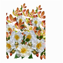 Flowers Roses Leaves Autumn Small Garden Flag (two Sides)