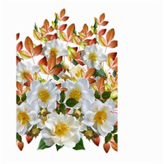 Flowers Roses Leaves Autumn Large Garden Flag (two Sides)
