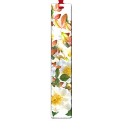 Flowers Roses Leaves Autumn Large Book Marks