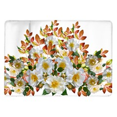 Flowers Roses Leaves Autumn Samsung Galaxy Tab 10 1  P7500 Flip Case