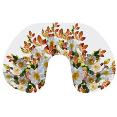 Flowers Roses Leaves Autumn Travel Neck Pillow