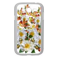 Flowers Roses Leaves Autumn Samsung Galaxy Grand Duos I9082 Case (white)