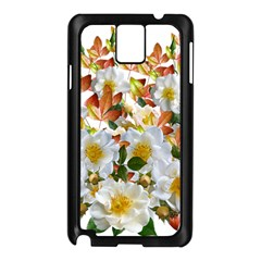 Flowers Roses Leaves Autumn Samsung Galaxy Note 3 N9005 Case (black)