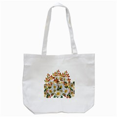 Flowers Roses Leaves Autumn Tote Bag (white)