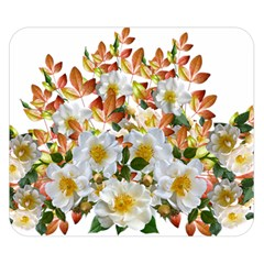 Flowers Roses Leaves Autumn Double Sided Flano Blanket (small)  by Pakrebo