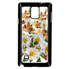 Flowers Roses Leaves Autumn Samsung Galaxy Note 4 Case (black)