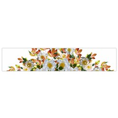 Flowers Roses Leaves Autumn Small Flano Scarf