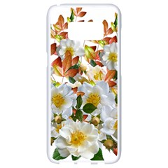 Flowers Roses Leaves Autumn Samsung Galaxy S8 White Seamless Case