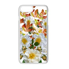 Flowers Roses Leaves Autumn Iphone 8 Plus Seamless Case (white)