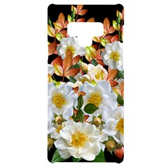 Flowers Roses Leaves Autumn Samsung Note 9 Black Uv Print Case