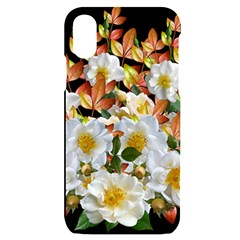 Flowers Roses Leaves Autumn Iphone X/xs Black Uv Print Case