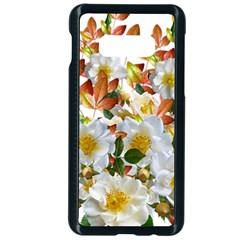 Flowers Roses Leaves Autumn Samsung Galaxy S10e Seamless Case (black)