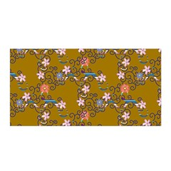 Textile Flowers Pattern Satin Wrap by HermanTelo