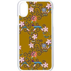 Textile Flowers Pattern Iphone X Seamless Case (white)