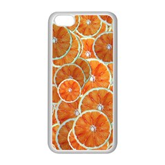 Oranges Background Iphone 5c Seamless Case (white) by HermanTelo