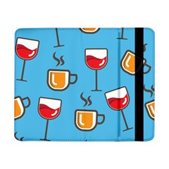 Cups And Mugs Blue Samsung Galaxy Tab Pro 8 4  Flip Case by HermanTelo
