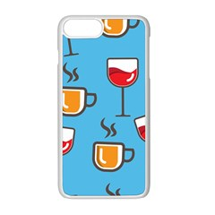Cups And Mugs Blue Iphone 8 Plus Seamless Case (white)