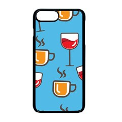 Cups And Mugs Blue Iphone 8 Plus Seamless Case (black)
