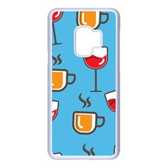 Cups And Mugs Blue Samsung Galaxy S9 Seamless Case(white)