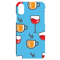 Cups And Mugs Blue Iphone X/xs Black Uv Print Case
