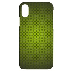 Hexagon Background Circle Iphone X/xs Black Uv Print Case