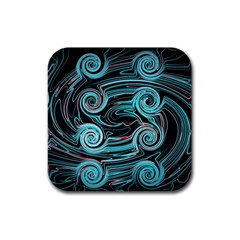 Background Neon Abstract Rubber Coaster (square)  by HermanTelo