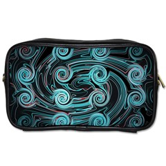 Background Neon Abstract Toiletries Bag (one Side) by HermanTelo