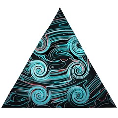 Background Neon Abstract Wooden Puzzle Triangle