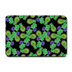 Flowers Pattern Background Small Doormat  by HermanTelo