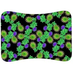 Flowers Pattern Background Velour Seat Head Rest Cushion by HermanTelo