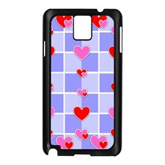 Love Hearts Valentine Decorative Samsung Galaxy Note 3 N9005 Case (black) by Jojostore