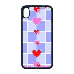Love Hearts Valentine Decorative Iphone Xr Seamless Case (black)