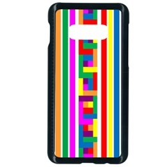Rainbow Geometric Spectrum Samsung Galaxy S10e Seamless Case (black)