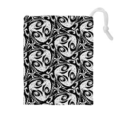 Fabric Pattern Drawstring Pouch (xl) by AnjaniArt