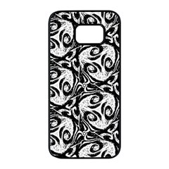 Fabric Pattern Samsung Galaxy S7 Edge Black Seamless Case by AnjaniArt