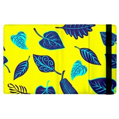 Leaves On A Yellow Background                                  Apple Ipad Mini 4 Flip Case by LalyLauraFLM