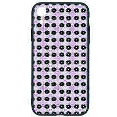 Black Flower On Pink White Pattern Iphone Xr Soft Bumper Uv Case by BrightVibesDesign