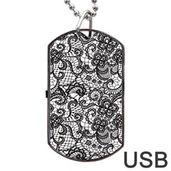 Encaje Dog Tag Usb Flash (one Side) by Sobalvarro