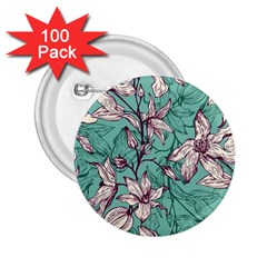 Vintage Floral Pattern 2 25  Buttons (100 Pack)  by Sobalvarro