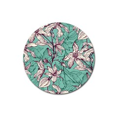 Vintage Floral Pattern Magnet 3  (round) by Sobalvarro