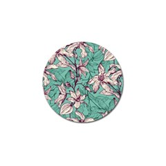 Vintage Floral Pattern Golf Ball Marker by Sobalvarro