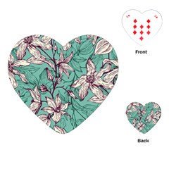 Vintage Floral Pattern Playing Cards Single Design (heart) by Wmcs91