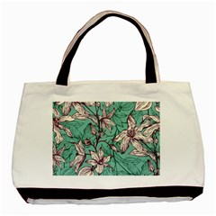 Vintage Floral Pattern Basic Tote Bag (two Sides) by Sobalvarro