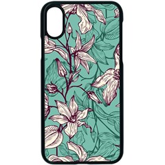 Vintage Floral Pattern Iphone X Seamless Case (black) by Sobalvarro